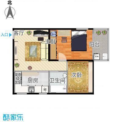 华隆新寓67.5平方,两室1厅
