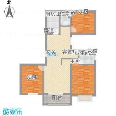 福佳新都市户型3室