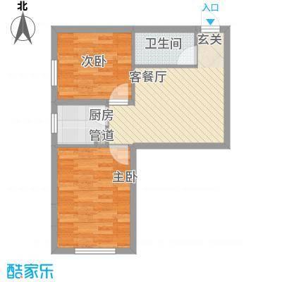 福佳新都市户型2室