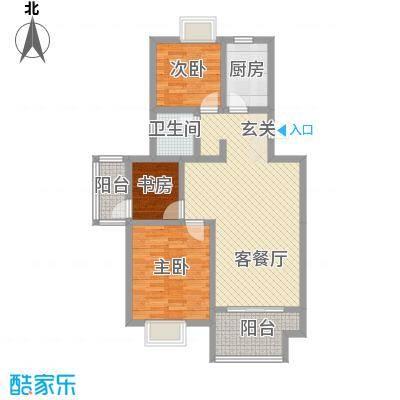 仙林诚品城户型2室2厅1卫1厨