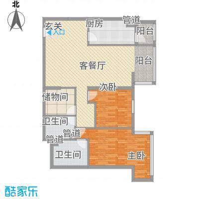 39所1区7.00㎡户型2室