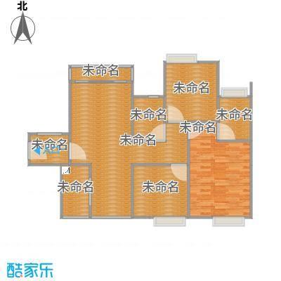 锦龙又一城二期01户型三房两厅97平