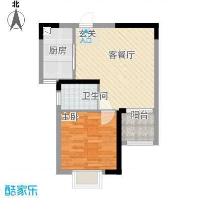 金房玲珑湾B3户型1室1厅1卫