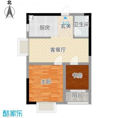 金房玲珑湾C5户型2室1厅1卫