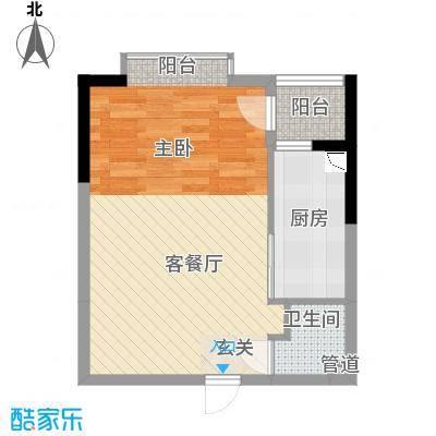 金房玲珑湾C3户型1室1厅1卫