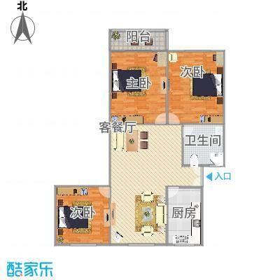 上海_乾骏园3房94平_2015-09-20-2037
