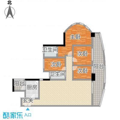 亿海湾178.00㎡1栋5层b户型4室2厅2卫1厨