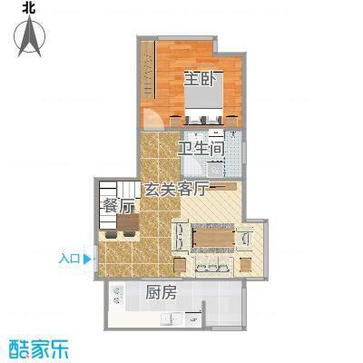 家立方单层66.2㎡三室两厅两卫复式