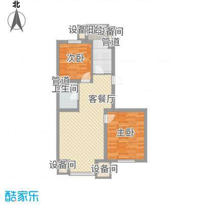 北美家园77.90㎡北美家园户型图E户型2室2厅1卫户型2室2厅1卫-副本