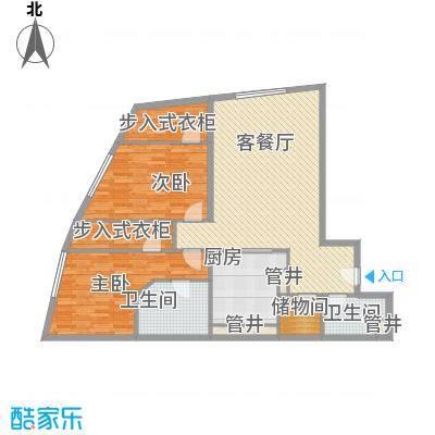 新地国际公寓苏寓150.00㎡新地国际公寓苏寓户型图2#楼A02户型2室2厅1卫1厨户型2室2厅1卫