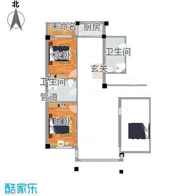 名仕家园13.74㎡户型2室2厅1卫-副本
