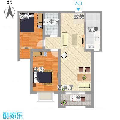 城市西景生活私署户型3室2厅1卫1厨-副本-副本