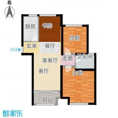 中茵龙湖国际户型2室1厅1卫1厨-副本
