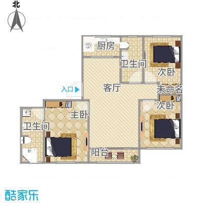水晶湾123.62m三室两厅两卫-副本