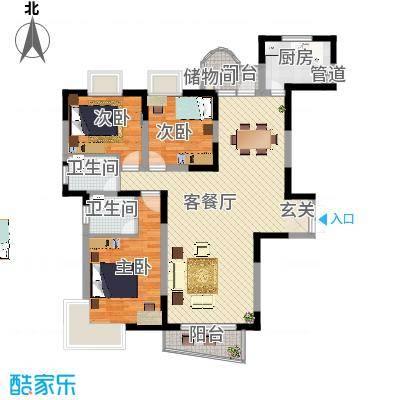 金星家园134.29㎡金星家园户型图逸湖居3室2厅2卫1厨户型3室2厅2卫1厨-副本
