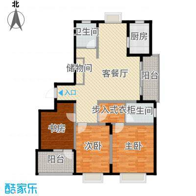 发展今日嘉园134.00㎡C型户型3室1厅2卫1厨