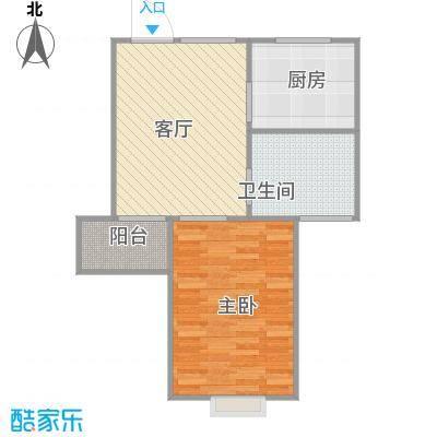 上海_丽泽荷亭苑_A2户型50.95m²