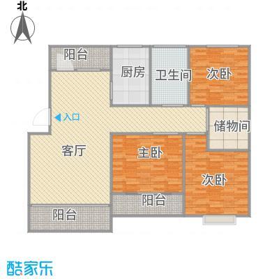 上海_丽泽荷亭苑C2型124.25平方_2015-09-30-1736