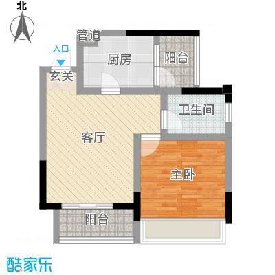 华恩・凯丽滨江59.86㎡户型1室1厅1卫1厨
