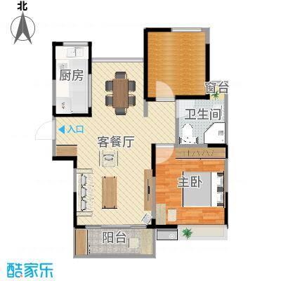 上海_鹏润伊顿公馆_A3户型设计-日式风