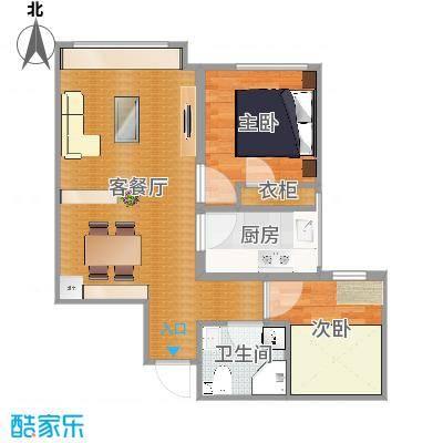 橡树湾75㎡两室两厅一厨一卫-LR006