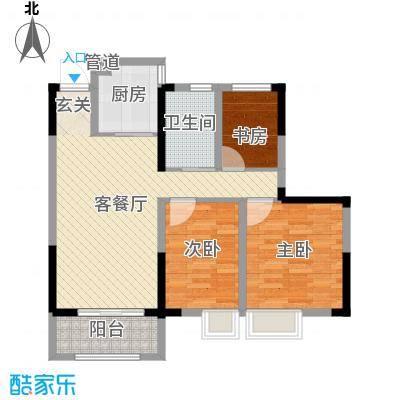 金鹏・爱丽舍宫88.00㎡高层户型3室3厅1卫1厨