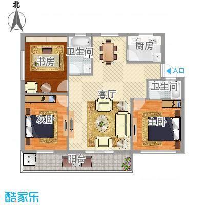 樱花小区3室2厅2卫1厨132.00㎡-副本