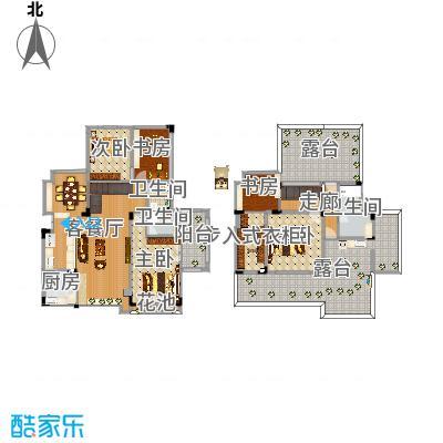 重庆_海宇学府江山_2016-01原结构+楼梯改造