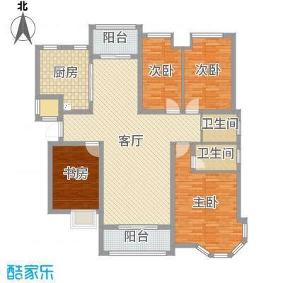 湘潭后湾四室二厅原始平面布局