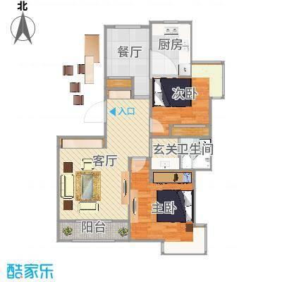天房郦堂两室两厅一厨一卫两阳台
