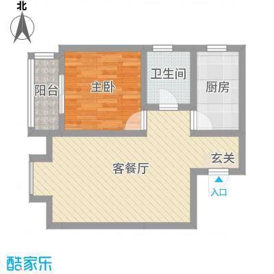御龙湾67.00㎡4号楼E户型1室1厅1卫1厨
