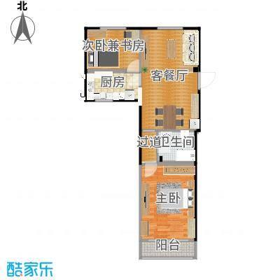 小两室户型改造PlanA