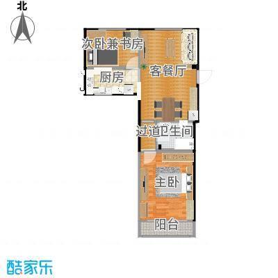 小两室户型改造PlanB