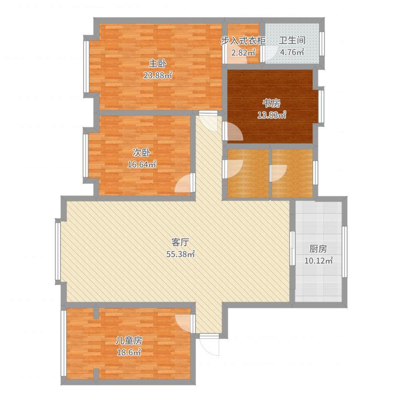 胜利花苑四室 180户型图大全,装修户型图,户型图分析
