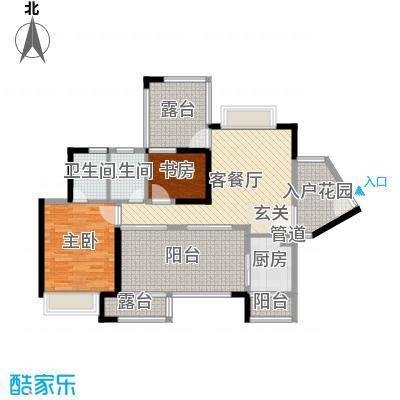 依云上城88.00㎡4座018-32奇数层户型2室2厅2卫