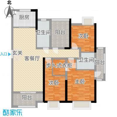 正荣财富中心143.00㎡B1户型3室3厅2卫1厨