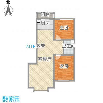 河东馨苑101.45㎡户型2室2厅1卫