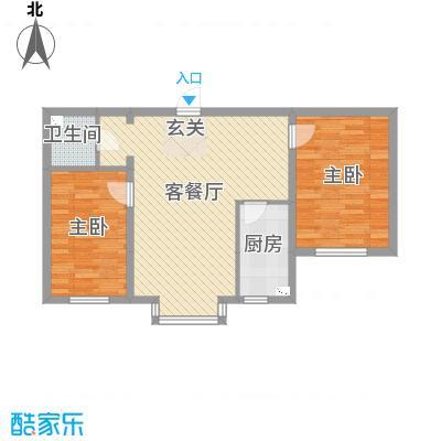 河东馨苑84.16㎡户型2室2厅1卫