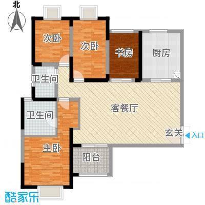 海门东恒盛国际公馆138.00㎡5#东梯C户型4室4厅2卫1厨