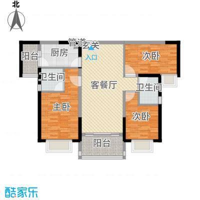 中山奥园110.00㎡S14、5栋03户型3室3厅2卫1厨
