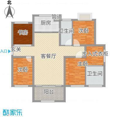 香榭一品142.00㎡E2户型4室4厅2卫1厨