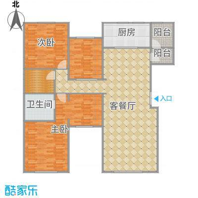 远洋天著花墅户型3室1厅3卫1厨