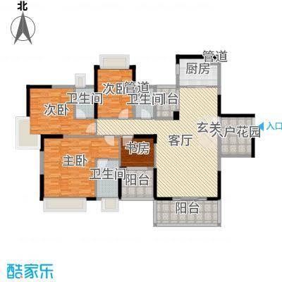 欧浦皇庭170.74㎡4和5栋标准层01-02和05-06单元户型4室4厅3卫1厨