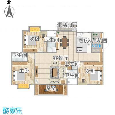 广东清远丽景华庭李女士现代简约2016.9.3
