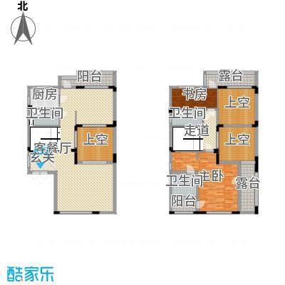 恒大帝景284.00㎡6栋B5户型4室4厅6卫1厨
