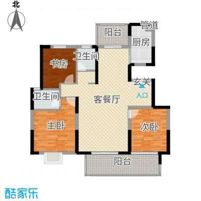 鲁能领秀城・漫山香墅135.00㎡洋房天麓三期B户型3室3厅2卫1厨