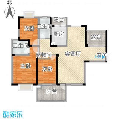 海门东恒盛国际公馆145.00㎡2#东梯C户型4室4厅2卫1厨