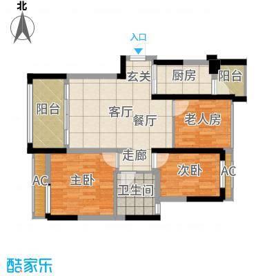 骋望怡峰花园86.00㎡一期7、8号楼标准层C户型-副本-副本