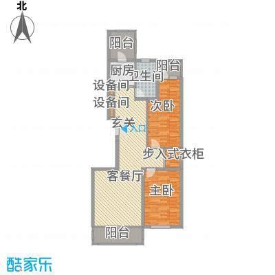 林江名城二期12.00㎡B户型2室2厅1卫-副本