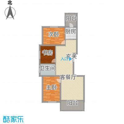 林江名城二期14.00㎡A户型3室2厅1卫-副本